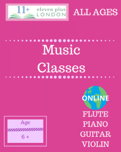 Music classes: all instruments