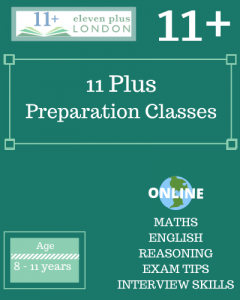 11+ Preparation Classes (ONLINE)