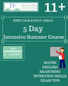 5 Day Intensive 11+ Summer Course (Face to Face)