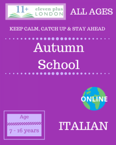 Autumn school: Italian