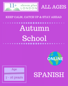Autumn school: Spanish