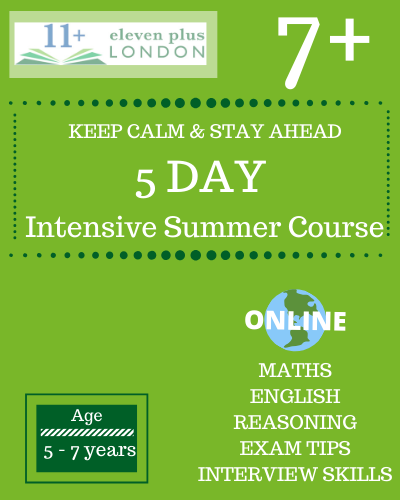5 Day Intensive Summer 7 plus course online