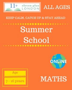 Summer school: MATHS