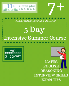 5 Day Intensive 7 Plus Summer Course
