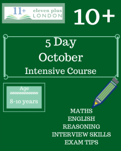 5 Day Intensive 10+ October Course