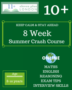 8 Week 10+ Summer crash course (ONLINE)