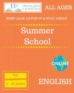 Summer school: ENGLISH