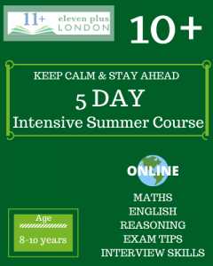 5 Day Intensive 10+ Summer Course (ONLINE)