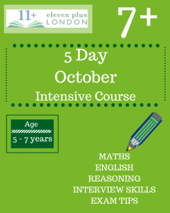 5 Day Intensive 7+ October Course