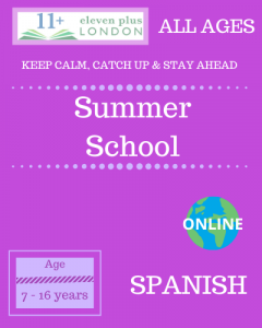Summer school: Spanish