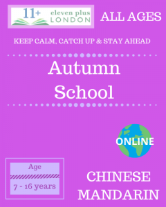 Autumn school: Chinese Mandarin