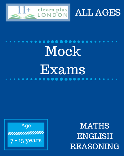 Mock Exams for 7+, 8+, 9+, 10+, 11+ and 13+