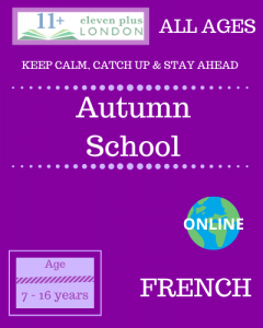 Autumn school: French