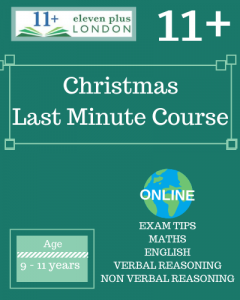 Christmas 11+ Last Minute Course 2021