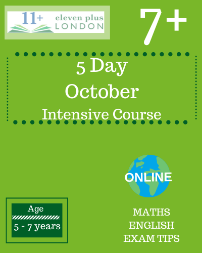 5 day October Intensive 7+ Course