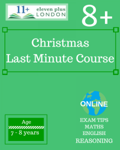 Christmas 8+ Last minute Course 2020