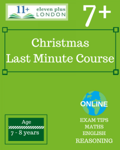 Christmas 7+ Last minute Course 2020