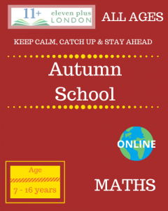 Autumn school: MATHS