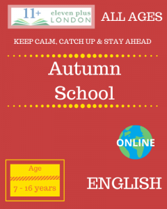 Autumn school: ENGLISH
