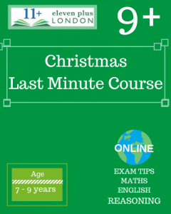 Christmas 9+ Last minute Course 2020