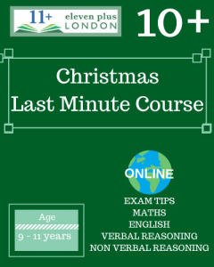Christmas 10+ Last Minute Course 2020