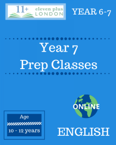 Year 7 Preparation Classes: ENGLISH