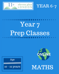 Year 7 Preparation Classes: MATHS