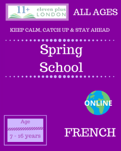 Spring school: French