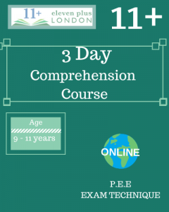 3 Day 11+ Comprehension Course (ONLINE)