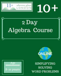 2 Day 10+ Algebra Course (ONLINE)